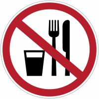 """Panneaux """"Interdiction de manger ou de boire"""""""
