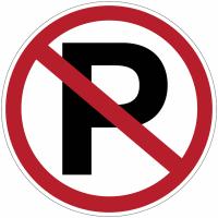 """Panneaux d'interdiction """"Parking interdit"""""""
