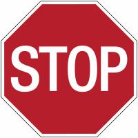 Panneaux d'interdiction - Stop