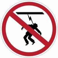 """Panneaux d'interdiction """"Danger électrique, haute tension, défense de toucher"""""""