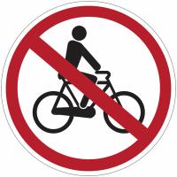 """Panneaux d'interdiction """"Accès interdit aux cycles"""""""