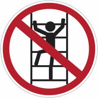 """Panneaux d'interdiction """"Défense de grimper à l'échelle"""""""