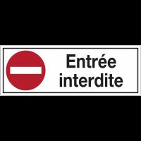 """Panneaux d'interdiction rectangulaires """"Sens interdit - Entrée interdite"""""""