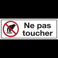 Panneaux d'interdiction rectangulaires - Ne pas toucher