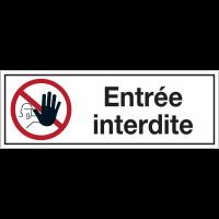 Panneaux d'interdiction rectangulaires - Entrée interdite