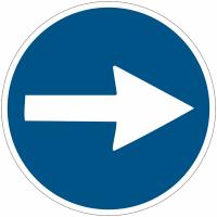 """Panneaux d'obligation """"Flèche directionnelle orientable"""""""