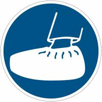 """Panneaux d'obligation """"Port obligatoire de surchaussures"""""""