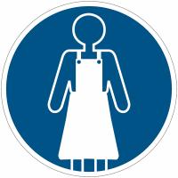 """Panneaux d'obligation """"Port du tablier obligatoire"""""""