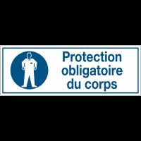 Panneaux d'obligation rectangulaires- Protection obligatoire du corps