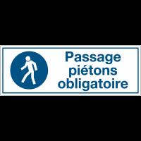 Panneaux d'obligation rectangulaires - Passage piétons obligatoire