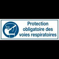 Panneaux d'obligation rectangulaires - Protection obligatoire des voies respiratoires