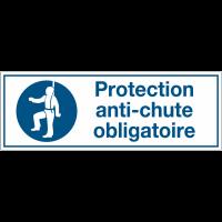 Panneaux d'obligation rectangulaires - Protection anti-chute obligatoire