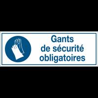Panneaux d'obligation rectangulaires - Gants de sécurité obligatoires
