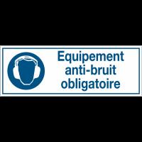 Panneaux d'obligation rectangulaires - Equipement anti-bruit obligatoire