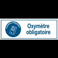 Panneaux d'obligation rectangulaires - Oxymètre obligatoire
