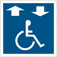"""Panneau accessibilité """"Ascenseur accessible aux fauteuils roulants"""""""