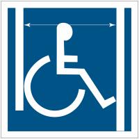 """Panneau accessibilité """"Accès handicapés, passage de porte large"""""""