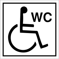 "Pictogrammes d'information standards ""Toilettes handicapés"""