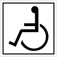 "Pictogrammes d'information standards ""Handicapés"""