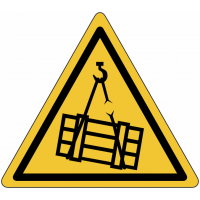 """Panneau en aluminium réfléchissant """"Danger charges suspendues"""""""