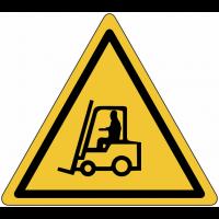 """Panneau en aluminium réfléchissant """"Danger, chariots élévateurs"""""""