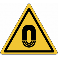 """Panneaux de danger """"Champ magnétique important"""""""