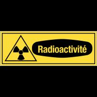 """Panneaux de danger """"Matières radioactives ou radiations ionisantes - radioactivité"""""""