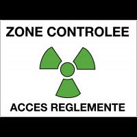"""Panneaux de danger """"Matières radioactives ou radiations ionisantes - zone contrôlée accès réglementé"""""""