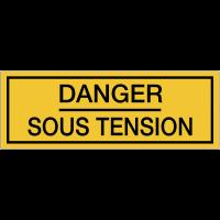 Panneaux de danger électrique rectangulaires - Danger sous tension