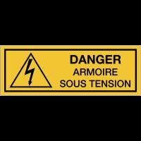 Panneaux de danger électrique rectangulaires - Danger armoire sous tension