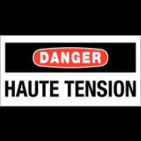 Panneaux de danger électrique rectangulaires - Danger haute tension