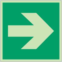 """Panneaux d'évacuation et de secours """"Flèche directionnelle 90°"""""""