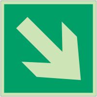 """Panneaux d'évacuation et de secours """"Flèche directionnelle 45°"""""""