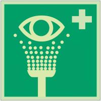 """Panneaux d'évacuation et de secours """"Equipement de rinçage des yeux"""""""