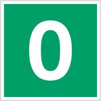 """Panneaux d'évacuation et de secours """"Niveau, étage 0"""""""