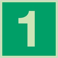 """Panneaux d'évacuation et de secours """"Niveau, étage 1"""""""