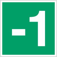 """Panneaux d'évacuation et de secours """"Niveau, étage -1"""""""