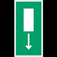"""Panneaux d'évacuation et de secours rectangulaire """"Issue de secours, flèche directionnelle en bas ou en haut"""""""