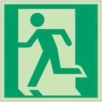"""Panneaux d'évacuation et de secours """"Sortie de secours (à gauche)"""""""