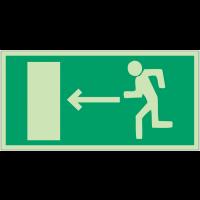 """Panneaux d'évacuation et de secours """"Homme qui court, flèche à gauche"""""""