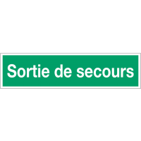 Panneaux d'évacuation - Sortie de secours