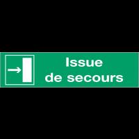 Panneaux d'évacuation - Issue de secours à droite
