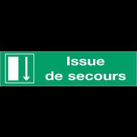 Panneaux d'évacuation - Issue de secours en bas