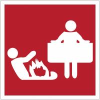 """Panneaux de sécurité et incendie """"Couverture anti-feu"""""""