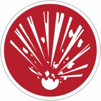 """Panneaux de sécurité et incendie circulaires """"Explosif"""""""