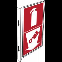 """Panneaux d'incendie combinés """"Extincteur d'incendie - Point d'alarme incendie"""""""