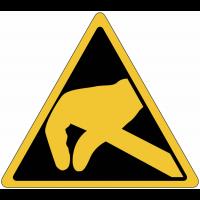 """Mini-pictogrammes """"Danger électrostatique"""" en rouleau"""