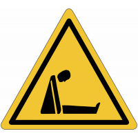 """Mini-pictogrammes de danger """"Risque d'asphyxie"""" en rouleau"""