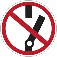 """Mini-pictogrammes d'interdiction """"Ne pas modifier la position de l'interrupteur"""" en rouleau"""