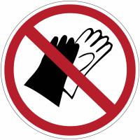 """Mini-pictogrammes d'interdiction """"Port de gants interdit"""" en rouleau"""